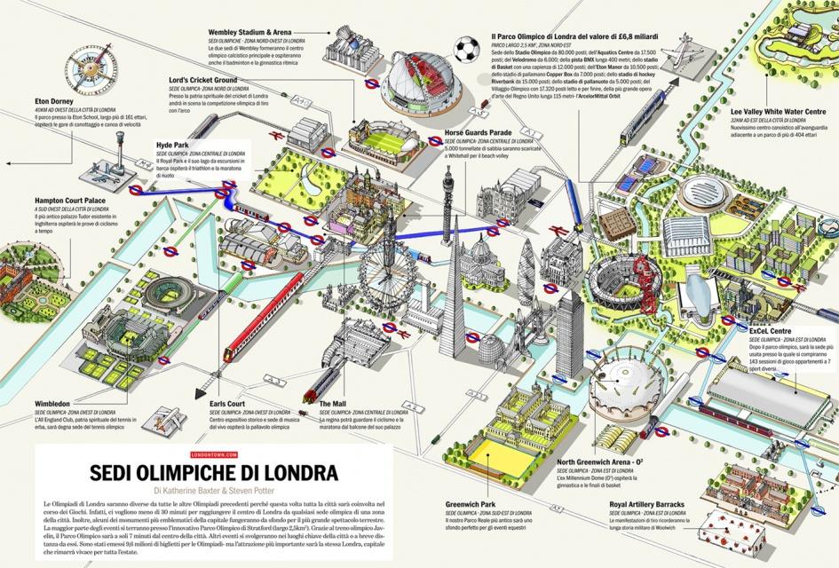 Londra Cartina.Le Sedi Olimpiche Di Londra Per Voi Da Londontown Com
